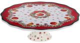 """Подставка для торта """"Рождественский орнамент"""" 25см, фарфор"""