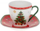"""Чашка з блюдцем """"З Різдвом"""" 220мл, порцелянова"""