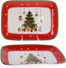 """Блюдо прямоугольное """"С Рождеством"""" 33см, фарфоровое"""