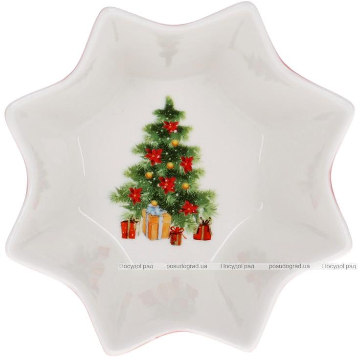 """Піала фігурна """"З Різдвом"""" 12.7см, порцелянова"""