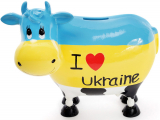 "Скарбничка-корівка ""I love Ukraine"" 21.5х12.5х19см керамічна"