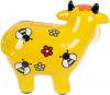 Скарбничка керамічна Корівка «Скарбничка бажань» 14х17см, жовта