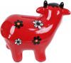 Скарбничка керамічна Корівка «Скарбничка бажань» 14х17см, червона