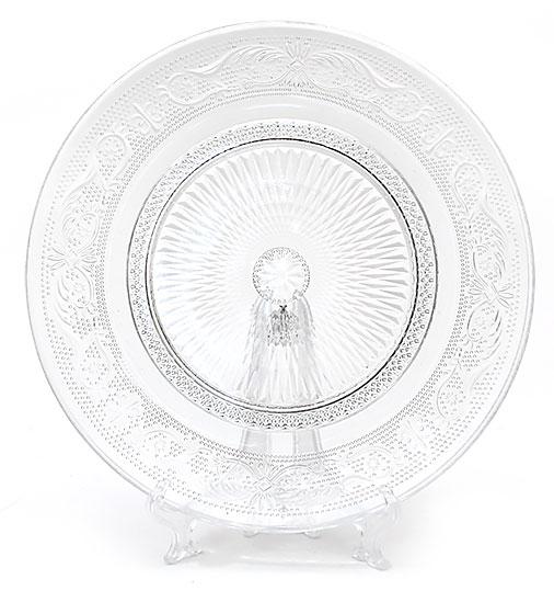 Набор 6 стеклянных тарелок Ajour Ø20см, десертные