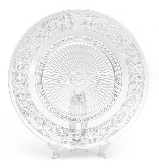 Набор 6 стеклянных тарелок Ajour Ø22.5см, обеденные