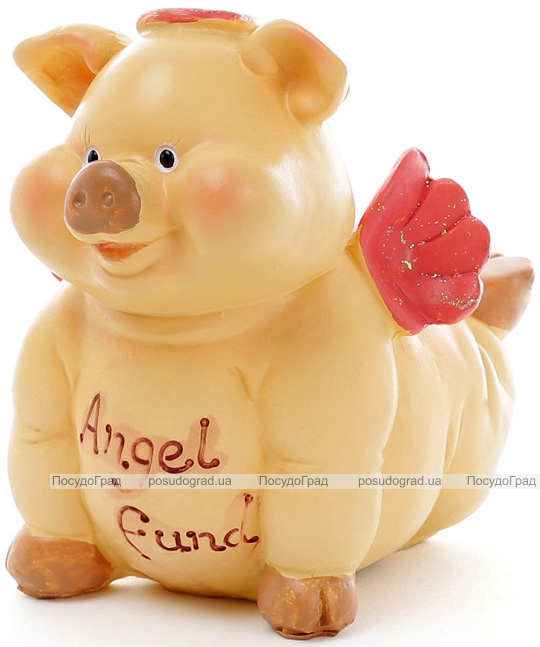"Набор 2 копилки ""Свинка-ангел"" 11х7х11см"