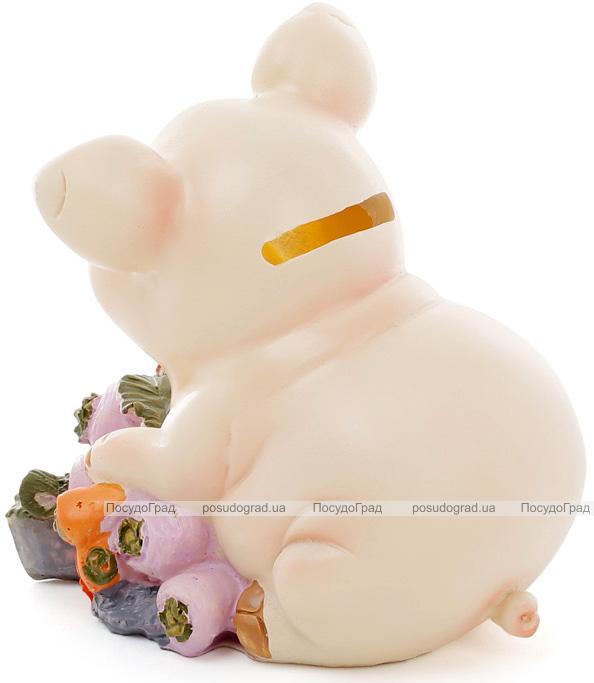 """Скарбничка """"Свинка з капустою"""" 12х9.5х12см"""