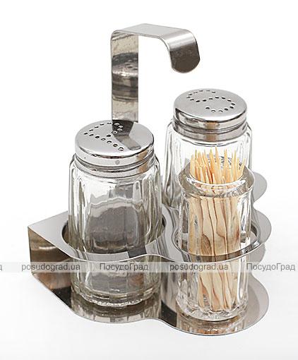 Набор спецовников Bona-23 емкость для зубочисток, соль, перец 105мл