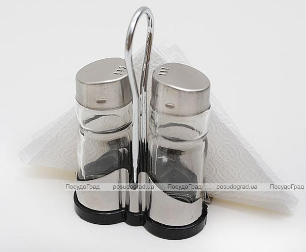 Набор спецовников Bona-25 салфетница, соль, перец, 100мл