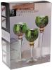 Набір 3 скляних підсвічника Isabelle 30см, 35см, 40см, фіолетовий