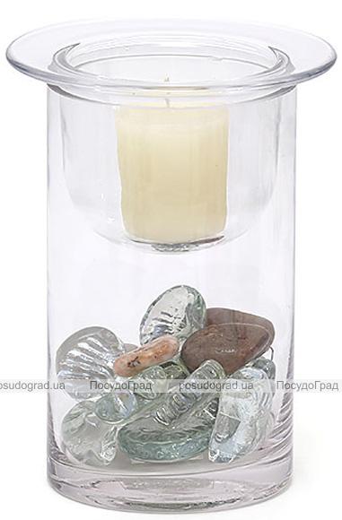 Підсвічник скляний 15х12см зі з'ємною склянкою