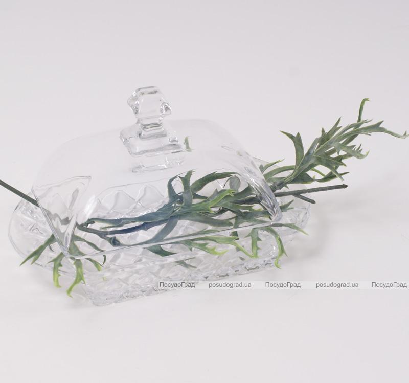 """Масленка """"Bona Glass"""" 17.2x10.5x9см, стеклянная"""