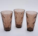 """Набір 3 склянки """"Емілія""""-21 коричневі 375мл"""