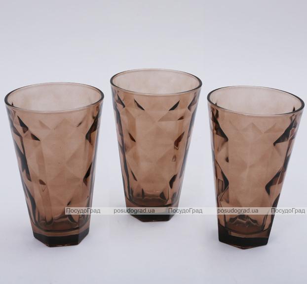 "Набор 3 стакана ""Эмилия""-21 коричневые 375мл"