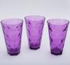 """Набор 3 стакана """"Эмилия""""-22 пурпурные 375мл"""