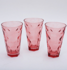 "Набор 3 стакана ""Эмилия""-23 красные 375мл"