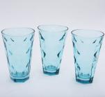 "Набор 3 стакана ""Эмилия""-24 голубые 375мл"