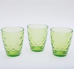 """Набор 3 стакана """"Эмилия""""-27 зеленые 350мл"""