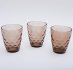 """Набір 3 склянки """"Емілія""""-28 коричневі 350мл"""