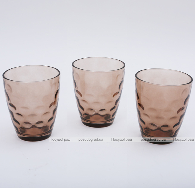 "Набор 3 стакана ""Эмилия""-28 коричневые 350мл"