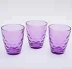 """Набор 3 стакана """"Эмилия""""-29 пурпурные 350мл"""