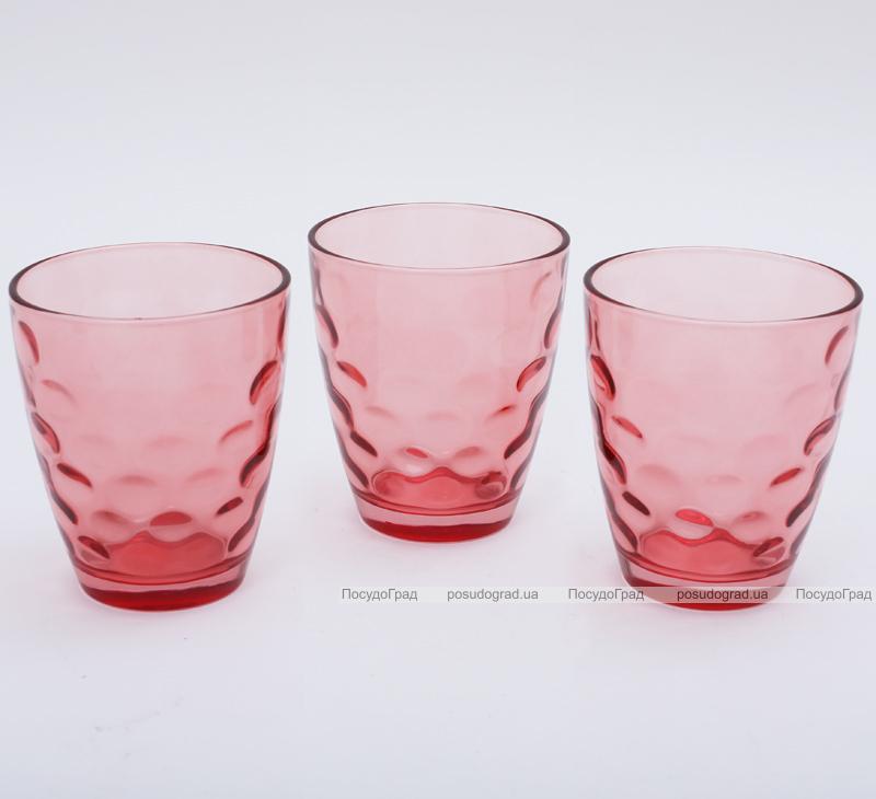 "Набор 3 стакана ""Эмилия""-30 красные 350мл"
