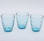 "Набор 3 стакана ""Эмилия""-31 голубые 350мл"