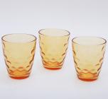 "Набор 3 стакана ""Эмилия""-32 оранжевые 350мл"