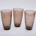 "Набор 3 стакана ""Эмилия""-35 коричневые 425мл"