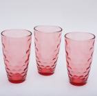Набор 3 стакана Эмилия-38 красные 425мл
