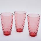"Набор 3 стакана ""Эмилия""-38 красные 425мл"