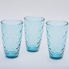 "Набор 3 стакана ""Эмилия""-39 голубые 425мл"