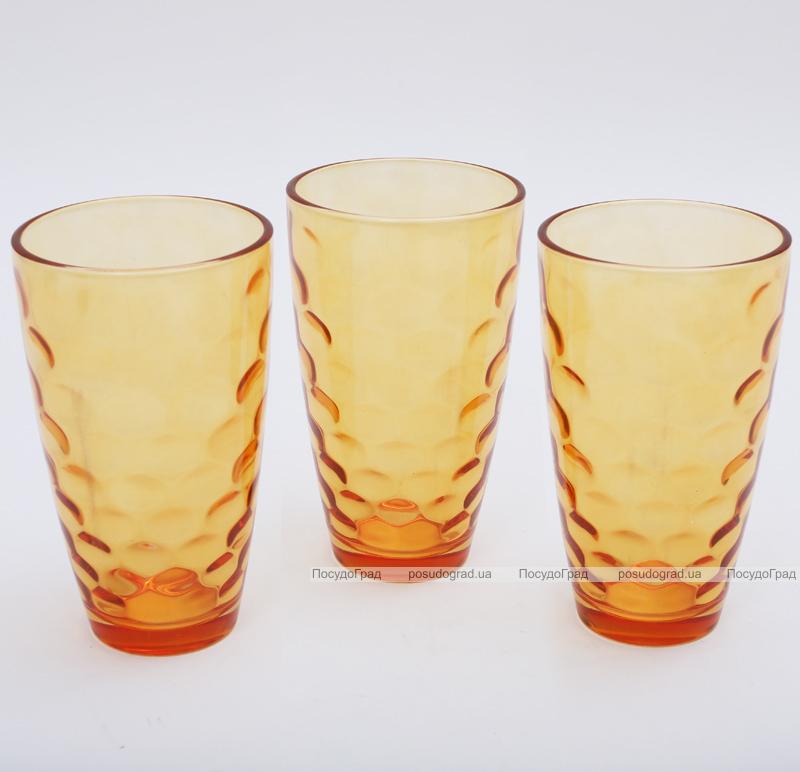 "Набор 3 стакана ""Эмилия""-40 оранжевые 425мл"