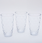 """Набір 3 склянки """"Емілія""""-41 прозорі 425мл"""