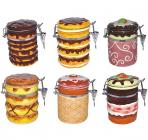 Банка Ceramic Cake 400-500мл для сыпучих продуктов с металлической затяжкой