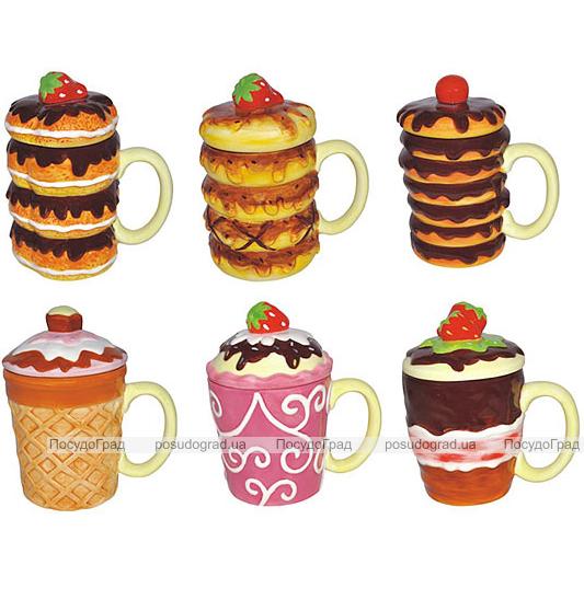 Кружка Ceramic Cake 300мл с крышкой