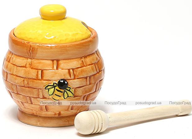 """Медовница с ложкой Honey """"Плетенка"""""""
