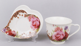 "Чайная пара ""Сoffee&Roses-I"" чашка 220мл с блюдцем"