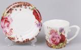 Чайная пара Сoffee&Roses-II чашка 220мл с блюдцем