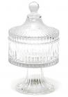 Сахарница стеклянная Bona Glass Ø10.5х19см со стеклянной крышкой