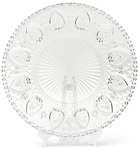 Набор 3 стеклянных блюда Ajour Ø30см, сервировочные