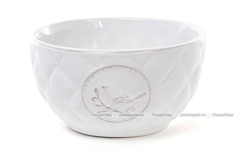 Пиала керамическая Leeds Птица 525мл, белая