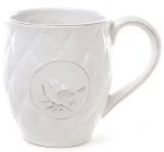 Кружка Leeds Птица керамическая 420мл, белая
