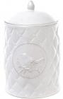 Банка кухонная Leeds Птица керамическая 2000мл, белая