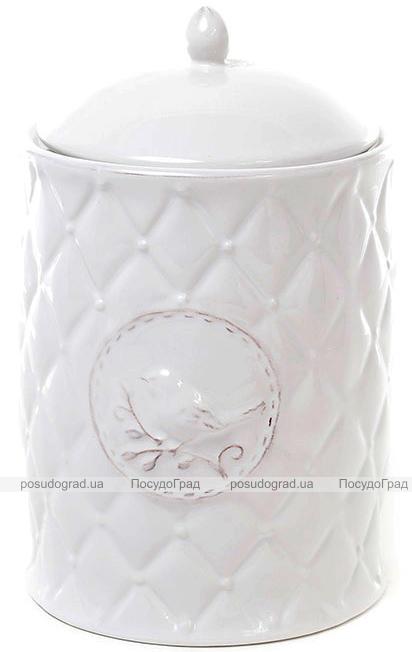 Банка кухонная Leeds Птица керамическая 1200мл, белая