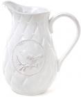 Глечик керамічний Leeds Птах 1800мл, білий