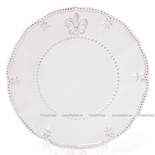 Тарелка Leeds Королевская Лилия, керамика Ø20см