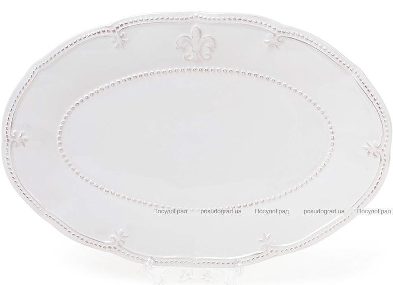 Блюдо овальное Leeds Королевская Лилия, керамика 34х23см