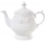 Чайник заварювальний Leeds Троянди 1300мл, біла кераміка