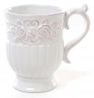 Кружка Leeds Розы 350мл, белая керамика